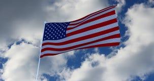 美国国旗美国 3d回报 免版税库存照片