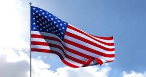 美国国旗美国 3d回报 库存照片