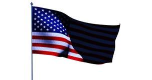 美国国旗美国 3d回报 库存图片
