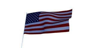 美国国旗美国 3d回报 免版税库存图片