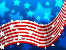 美国国旗背景显示美国星和国家 向量例证