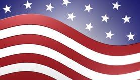 美国国旗背景,例证 库存照片