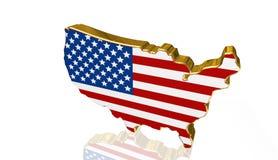 美国国旗背景,例证 免版税图库摄影