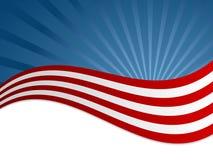 美国国旗背景 免版税图库摄影
