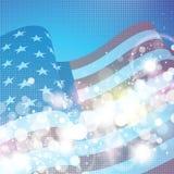 美国国旗背景 免版税库存图片