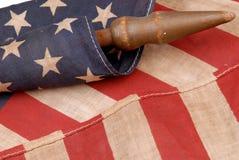 美国国旗葡萄酒 库存图片