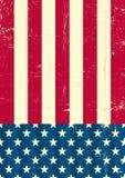 美国国旗葡萄酒 向量例证