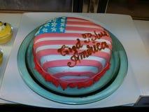 美国国旗蛋糕 免版税图库摄影