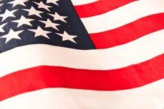 美国国旗 关闭 美国国旗背景 爱国心的概念 免版税图库摄影