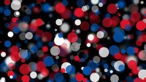 美国国旗7月四日与蓝色白色红色色环和被弄脏的光的题材 皇族释放例证