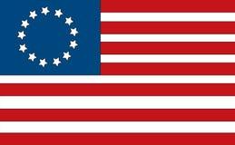 美国国旗 皇族释放例证