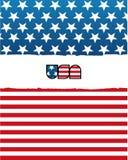 美国国旗 库存例证