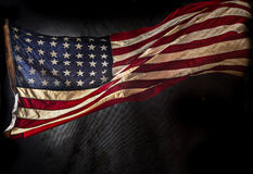 美国国旗grunge 免版税库存照片