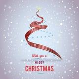 美国圣诞树丝带 免版税库存照片