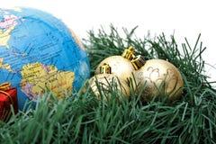 美国圣诞节南主题世界 图库摄影
