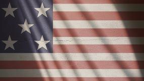 美国在与门阴影的混凝土下垂 库存图片