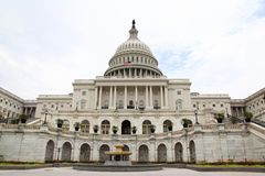 美国在华盛顿特区的国会大厦大厦,美国 团结的状态 库存照片