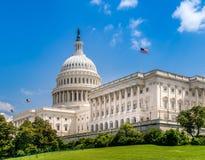 美国在华盛顿特区的国会大厦大厦-美国联邦政府的著名美国地标和位子 免版税库存照片