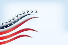 美国在蓝天下垂 免版税库存照片