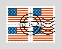 美国在邮票下垂 免版税库存图片