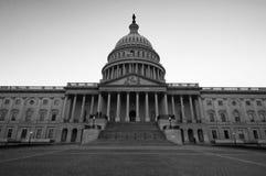 美国在黑白的国会大厦大厦 图库摄影