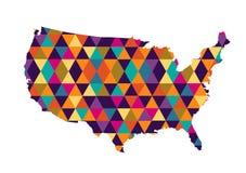 美国地图传染媒介例证 库存例证