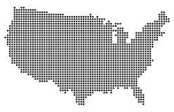 美国地图传染媒介 库存图片