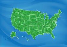 美国地图 免版税库存图片