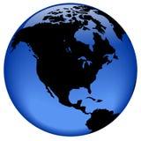 美国地球北部视图 库存图片