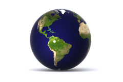 美国地球查出 库存例证