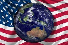 美国地球 向量例证