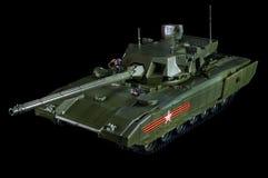 美国坦克艾布拉姆斯的模型 黑色背景 免版税图库摄影