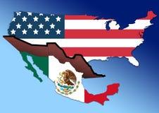 美国墨西哥墙壁 库存图片
