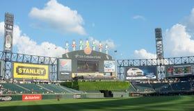 美国多孔的棒球场 免版税库存照片