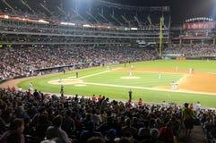 美国多孔的棒球场 库存图片