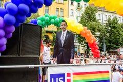 美国大使馆-布拉格自豪感 免版税库存照片