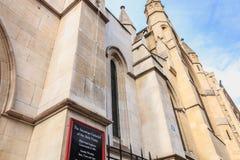 美国大教堂的门面的建筑细节 库存图片