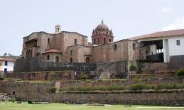 美国大教堂cusco南的秘鲁 免版税库存照片