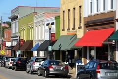 美国大街城镇 免版税库存照片