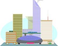 美国大都会的商业区 图库摄影
