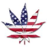 美国大麻合法化 库存例证