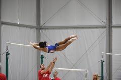 美国奥林匹克体操 免版税图库摄影