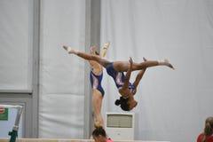 美国奥林匹克体操 免版税库存图片