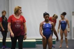 美国奥林匹克体操 免版税库存照片