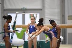 美国奥林匹克体操 库存照片