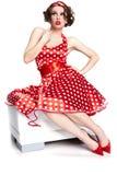 美国女孩针样式 免版税库存照片