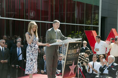 美国女演员詹尼弗Aniston接受她的星形 库存照片