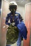 美国宇航员朱迪思阿琳Resnik美国航空航天局飞行衣服 免版税库存图片