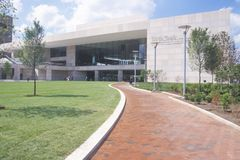 美国宪法国家宪法中心在独立购物中心,费城,宾夕法尼亚 S 在独立购物中心,费城,宾夕法尼亚的宪法 图库摄影
