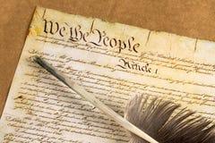 美国宪法 库存图片